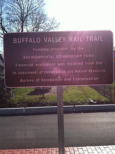 Buffalo Valley Rail Trail Buffalo Valley Rail Trail Funding Provided by sign