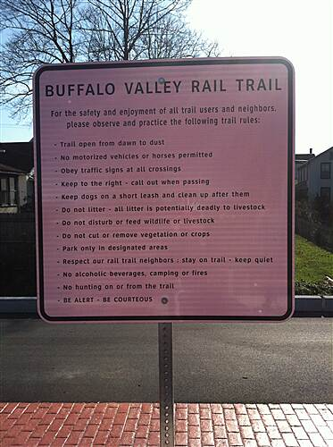 Buffalo Valley Rail Trail Buffalo Valley Rail Trail Trail Rules ane Regulations