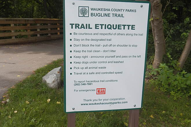 Bugline Trail Bugline - mile marker 7 Read and Heed !