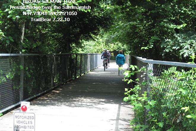 Burke-Gilman Trail BURKE-GILMAN TRAIL - North end BGT at the junction with the Sammamish River Trail