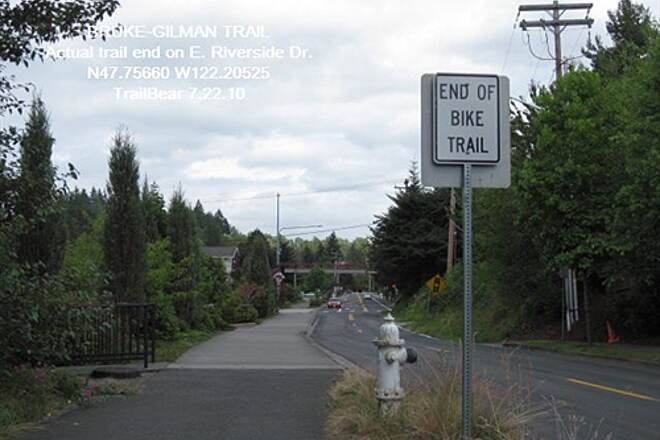 Burke-Gilman Trail BURKE-GILMAN TRAIL - North end Actual north end of the BGT