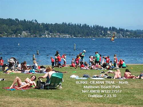 Burke-Gilman Trail BURKE-GILMAN TRAIL - North NorthWetters trying to tan (or burn).
