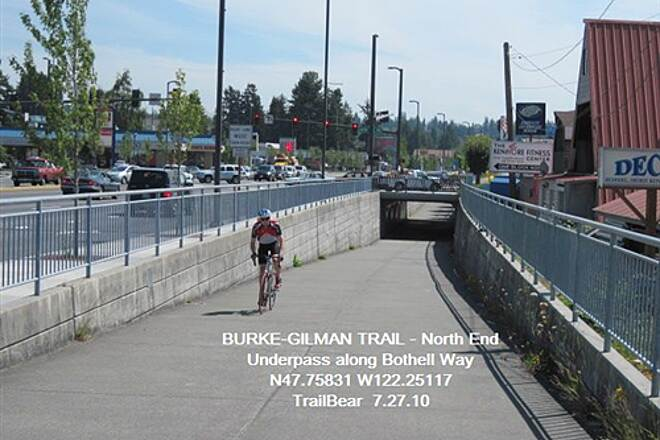 Burke-Gilman Trail BURKE-GILMAN TRAIL - North One of the underpasses along Bothell Way