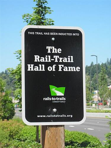 Burke-Gilman Trail BURKE-GILMAN TRAIL - North Hey - an RTC Hall of Fame sign