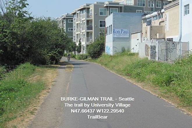 Burke-Gilman Trail BURKE GILMAN TRAIL - Seattle Apartments and such back of U-Village