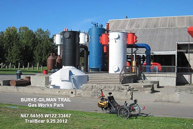 Burke-Gilman Trail BURKE GILMAN TRAIL - WATERFRONT In the Gas Works Park.