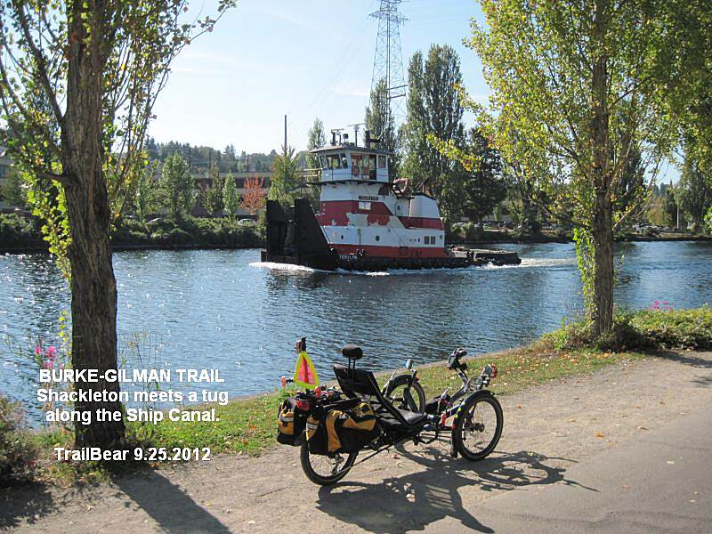 Burke-Gilman Trail BURKE GILMAN TRAIL - WATERFRONT Shackleton and the pusher tug.