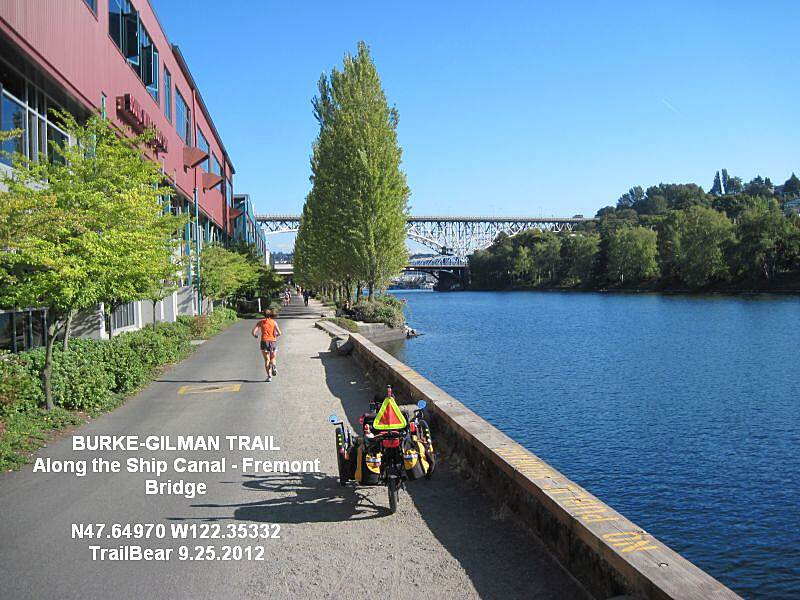Burke-Gilman Trail BURKE GILMAN TRAIL - WATERFRONT Ahead are the Fremont and Aurora bridges