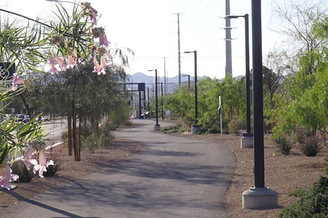 Burkholder Trail Burkholder Trail  View is looking east from Judy Ln toward Major Ave.