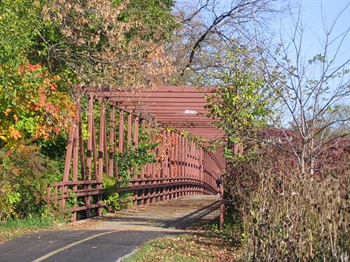 Busse Woods Trail  This trail bridge traverses busy Route 72.