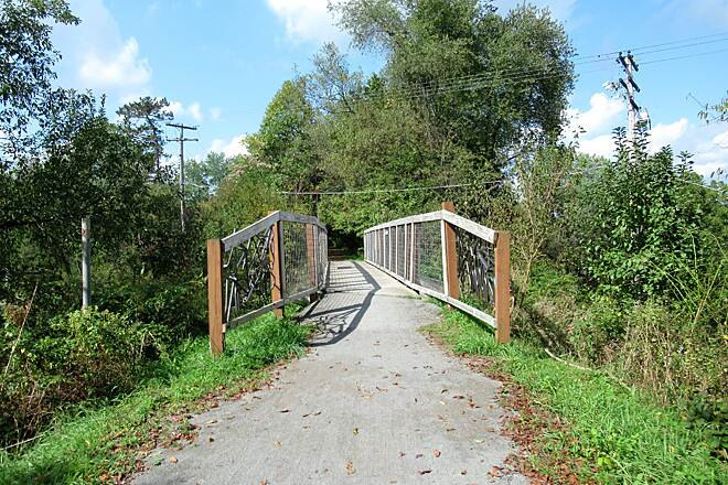Butler-Freeport Community Trail Little bridge along the trail Little bridge over a roadway along the trail