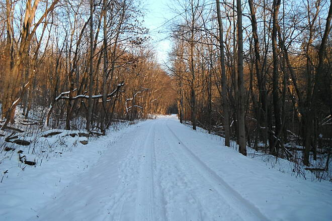 Butler-Freeport Community Trail Cross Country Sking Winter workout