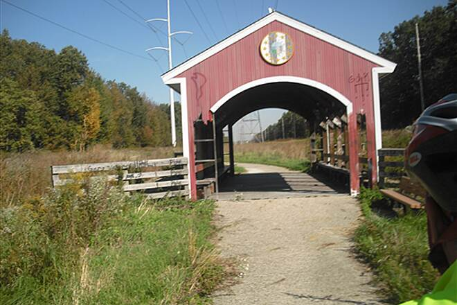 Calumet Trail little covered bridge