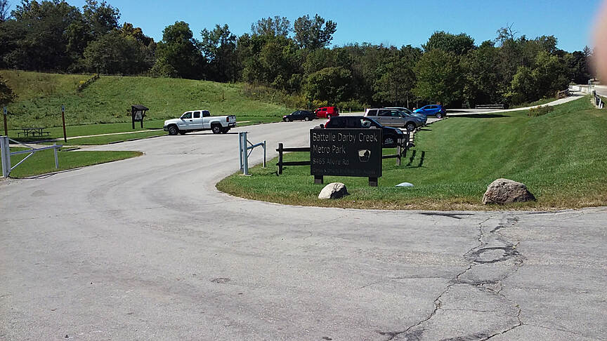 Camp Chase Trail Sept 2015 Batelle Darby Creek Metro Park parking lot on Alkire Rd
