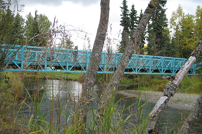 Campbell Creek Greenbelt trail bridge