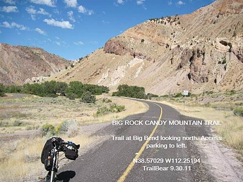 Candy Mountain Express Bike Trail BIG ROCK CANDY MOUNTAIN TRAIL There is informal access parking at the bend