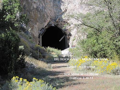 Candy Mountain Express Bike Trail BIG ROCK CANDY MOUNTAIN TRAIL The Eagle Rock Tunnel - north end.