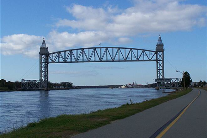 Cape Cod Canal Bikeway Bridge View of Bridge