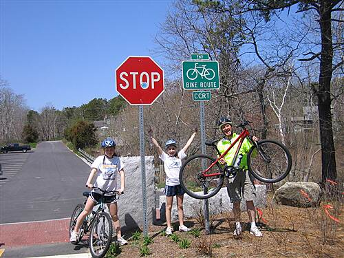 Cape Cod Rail Trail end of 22 miles....! end of 22 miles...!
