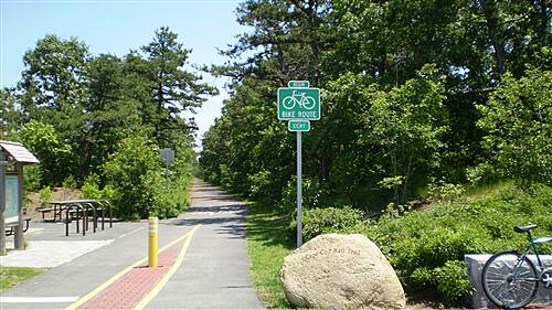 Cape Cod Rail Trail   southern beginning of trail.  June 27, 2009.