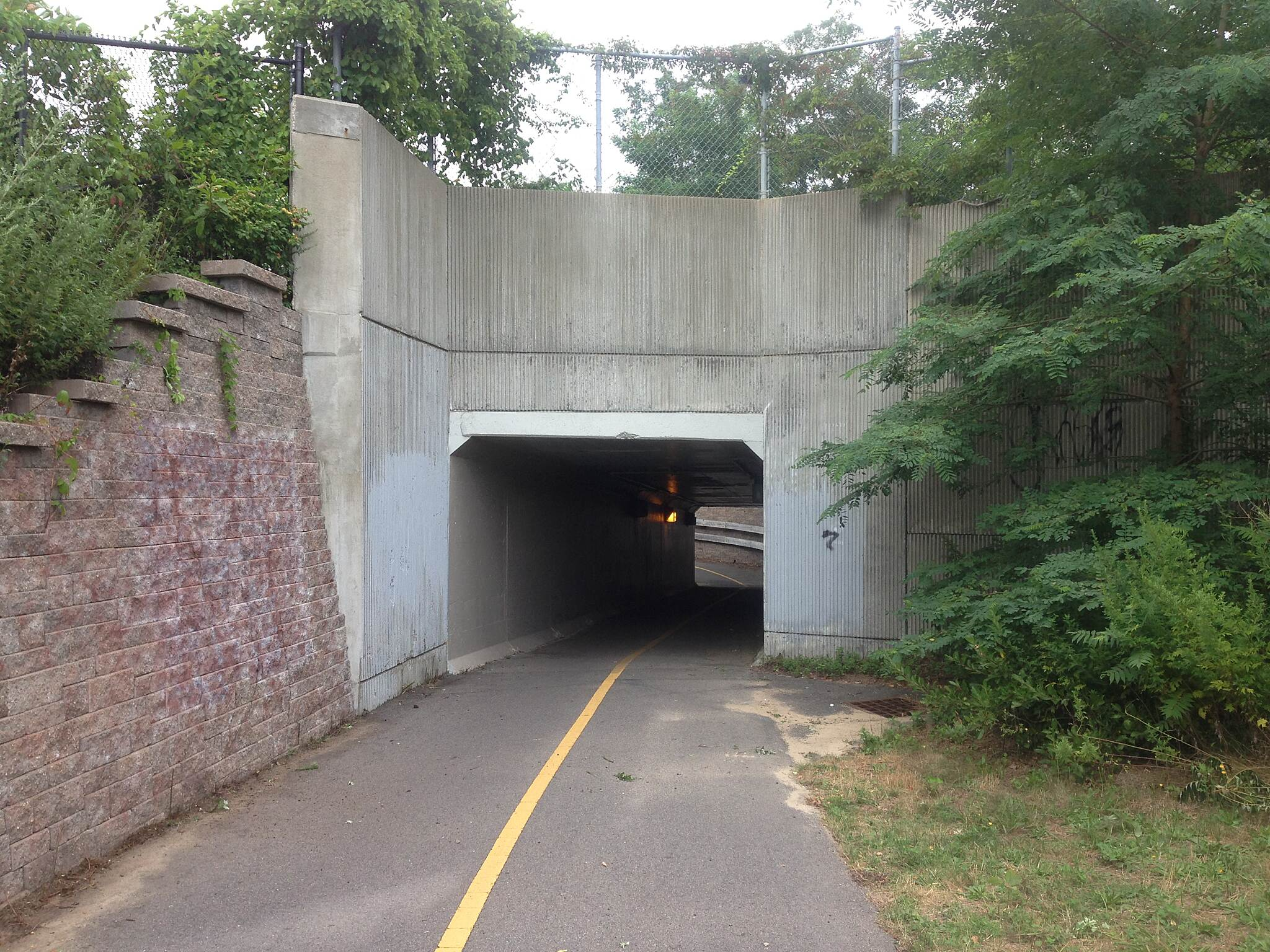 Cape Cod Rail Trail Eastham, MA Tunnel on the Eastham portion of the trail.