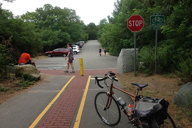 Cape Cod Rail Trail End of the line. Wellfleet, MA.