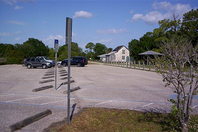 Cape Haze Pioneer Trail  Parking area at north trailhead