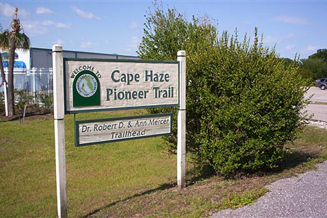 Cape Haze Pioneer Trail  Sign at North Trailhead