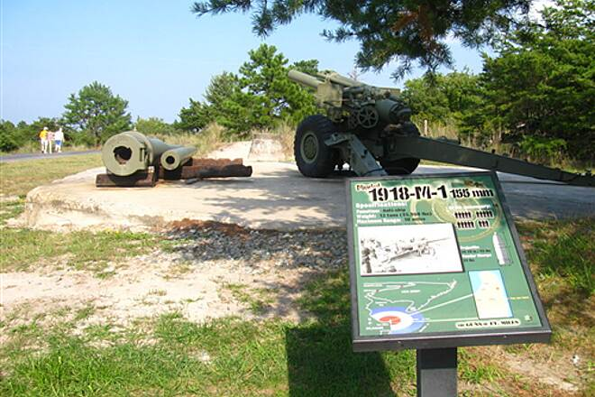Cape Henlopen State Park Bike Loop Cape Henlopen State Park WWII artillery along bike trail