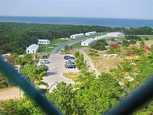 Cape Henlopen State Park Bike Loop Cape Henlopen State Park Tower view: WWII Ft. Miles, bike path, Atlantic Ocean