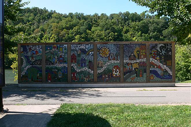 Caperton Trail riverfront 23 mosaic of the riverfront trail