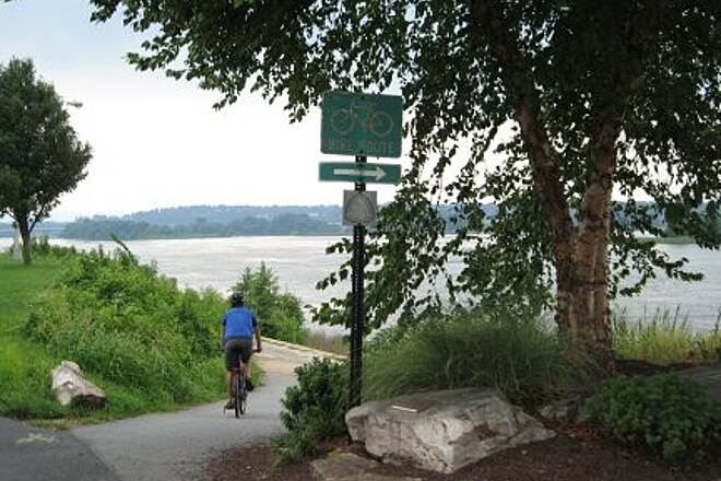 Capital Area Greenbelt Bike Path One of the many places to ride the lower trail along the Susquehanna River.