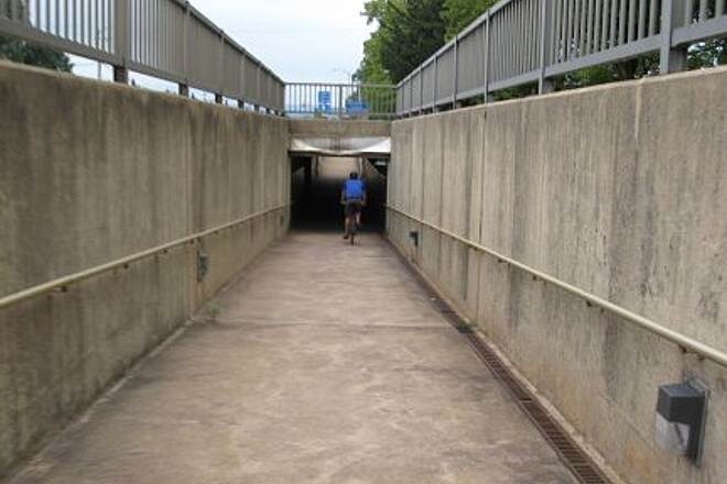 Capital Area Greenbelt tunnel Tunnel under Cameron Street in front of Farm Show Complex