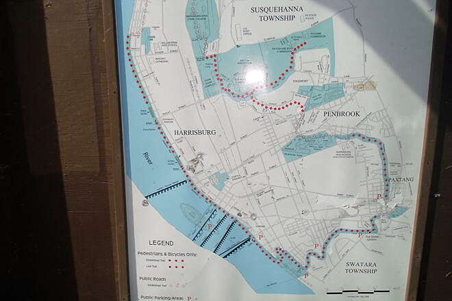 Capital Area Greenbelt Capital Area Greenbelt Map of the Greenbelt, displayed at a kiosk at the Paxtang trailhead.