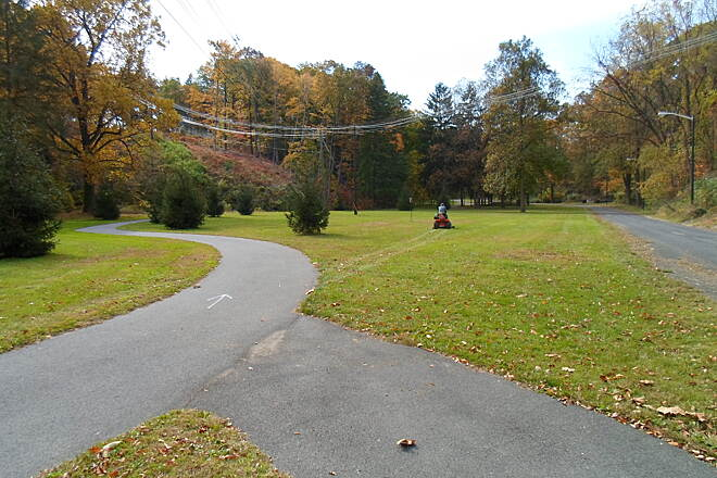 Capital Area Greenbelt Capital Area Greenbelt View west into the arboretum near the former state hospital. Pine Drive is to the right.