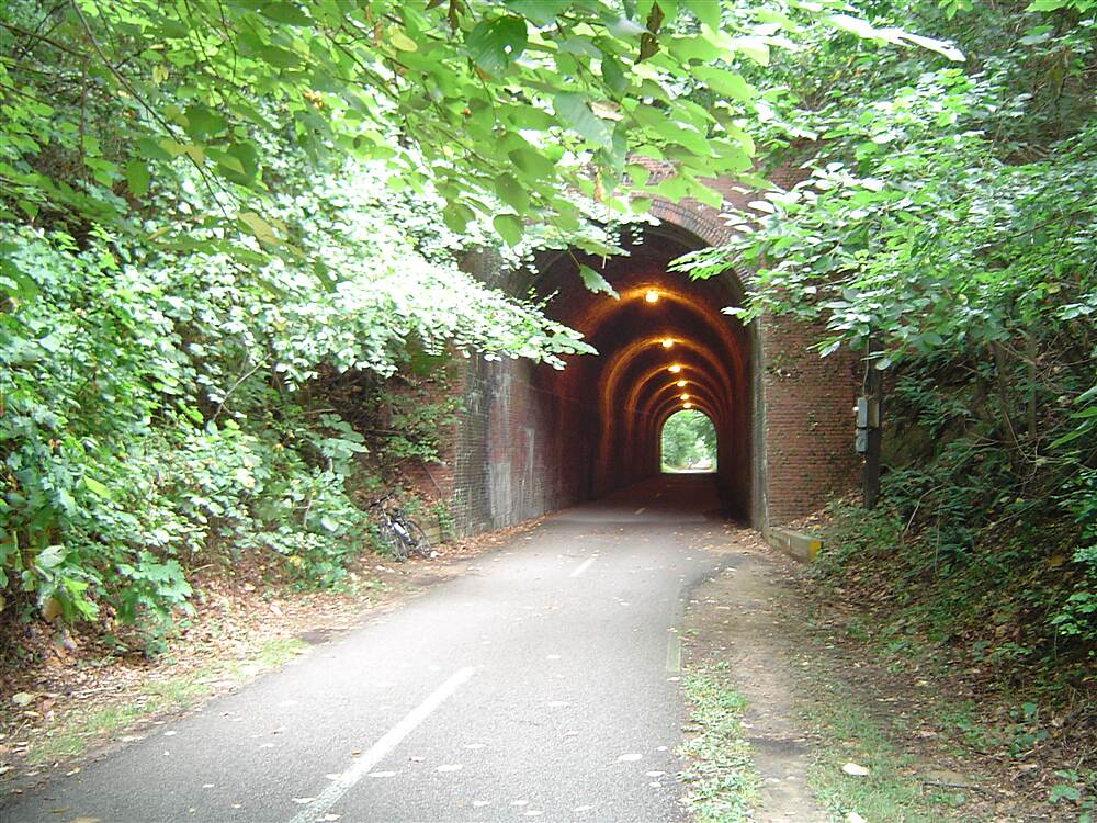 Capital Crescent Trail Railway Tunnel Just one of the many unique vuews