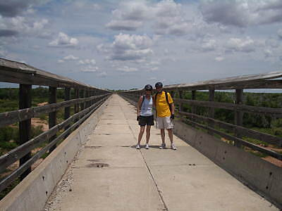 Caprock Canyons State Park Trailway Los Lingos Trail bridge along the Los Lingos Trail