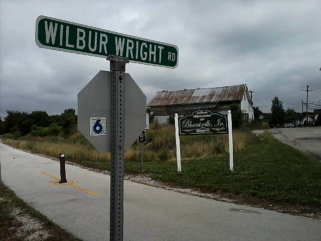 Cardinal Greenway Wilbur Wright Rd. Blountsville, south of Muncie, near the birthplace of Wilbur Wright.