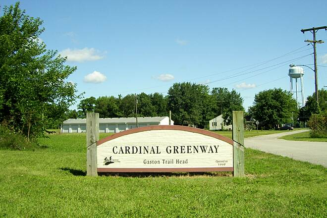 Cardinal Greenway Cardinal Greenway Gaston: Northern terminus of Muncie to Richmond section.