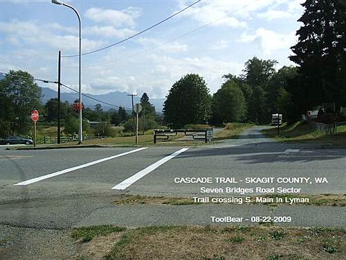 Cascade Trail CASCADE TRAIL - SEVEN BRIDGED ROAD SECTOR Crossing Main St. in Lyman