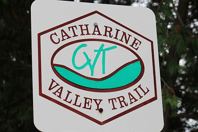 Catharine Valley Trail Catharine Valley Trail signage