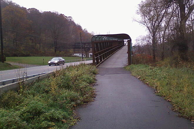 Catharine Valley Trail Bridge near end of trail south By far best bridge I rode over!