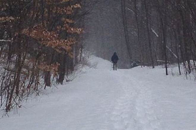 Catharine Valley Trail Snowshoeing on the Trail Feb.  Great snowshoeing day on CVT!
