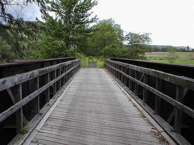Catskill Scenic Trail Catskill Scenic Trail New bridge decking and railings, but old bridge steel support structure.