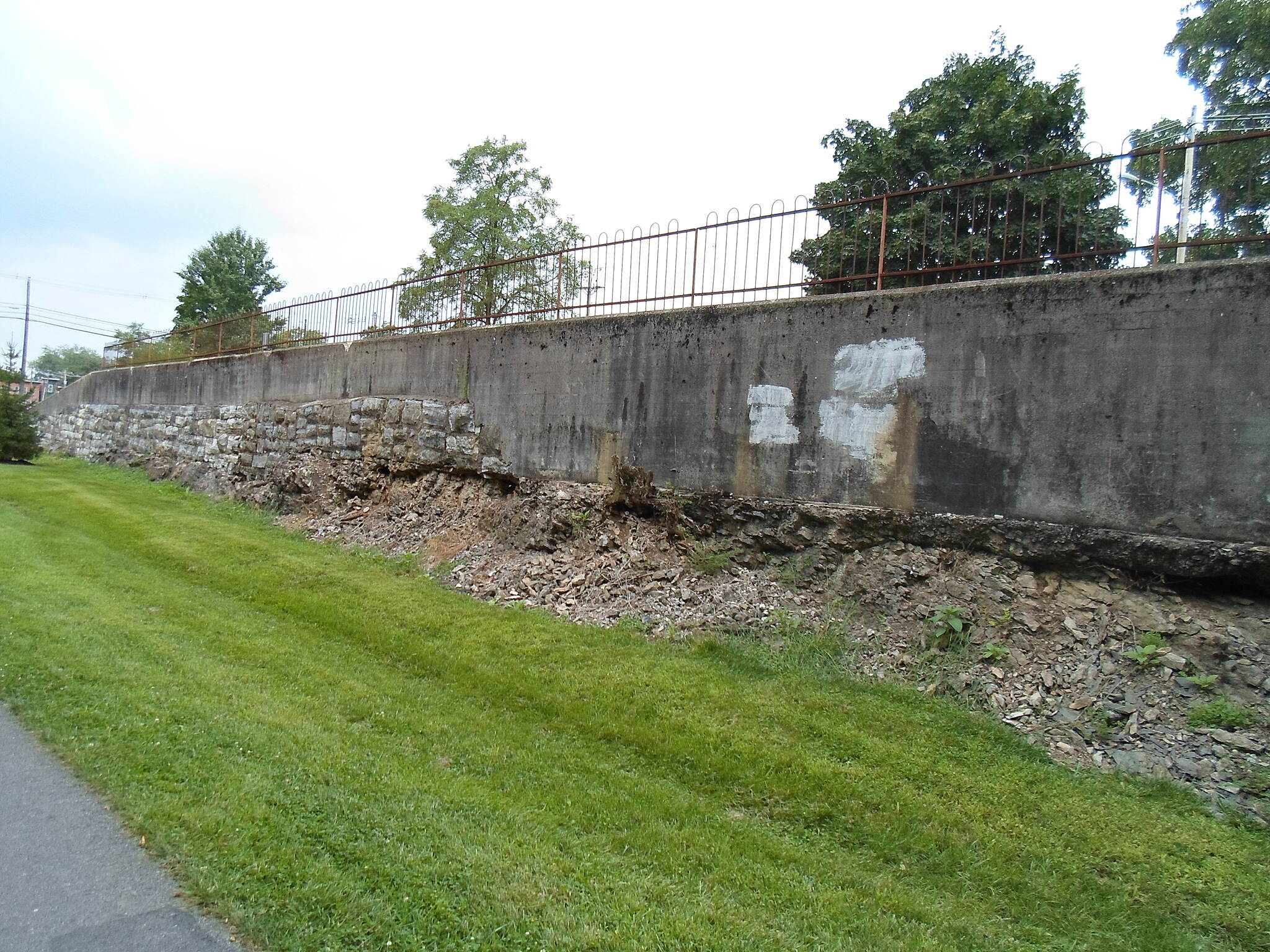 Chambersburg Rail-Trail Chambersburg Rail-Trail Located just north of the High Street intersection, this retaining wall is an interesting feature that can be seen just west of the trail. I don't know what its historical significance is.