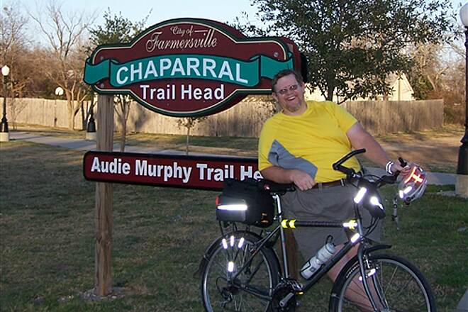Chaparral Rail Trail At Farmersville Trail Head If I can ride this trail at my size...how bad could it be?
