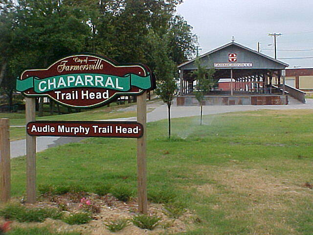 Chaparral Rail Trail Chaparral Trail head in Farmersville Photo taken during Audie Murphy Day 2004