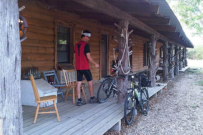 Chaparral Rail Trail Ladonia Lodge This 6 unit cabin is perfect---so nice my wife would even stay there!  For info, contact owner Rick Barrett (barrett.rick@sbcglobal.net)