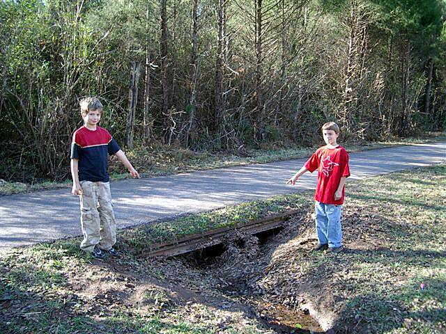 "Chattahoochee Valley Railroad Trail ""There is a rail under there."" We met some local youths who excitedly showed us the rails that are still visible under the trail.  (Look for them within the northern section.)"