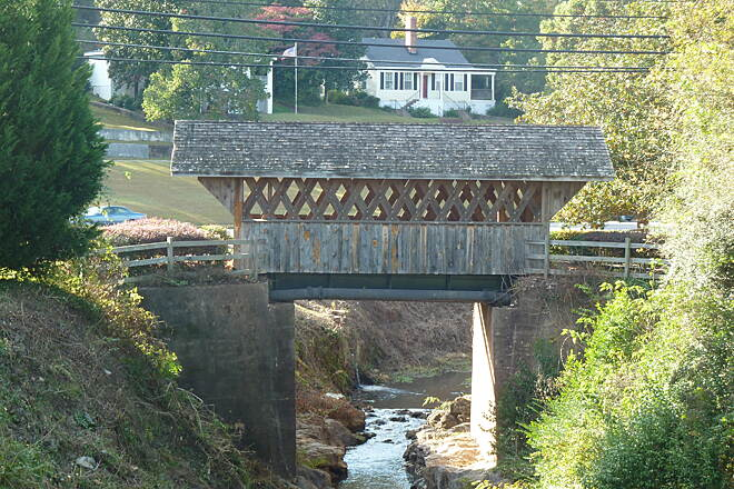 Chattahoochee Valley Railroad Trail Covered Bridge In Langdale